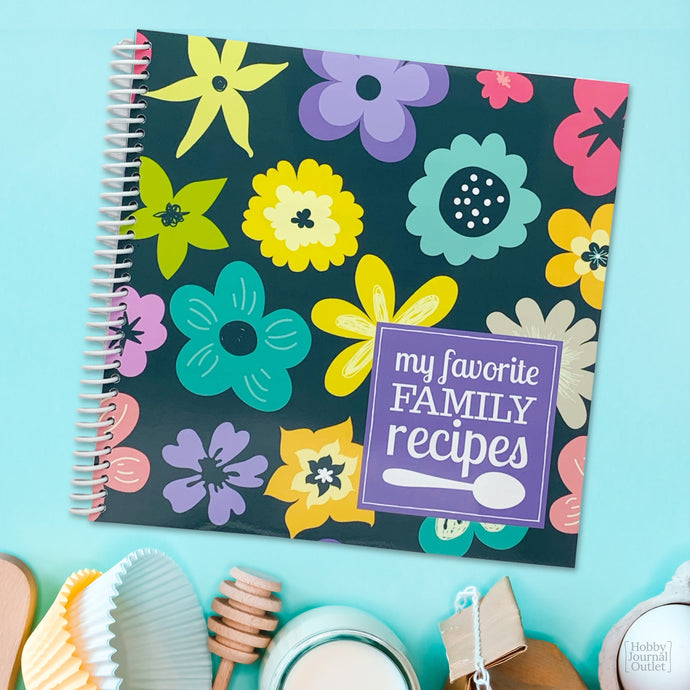My Favorite Family Recipes Keepsake Spiral Bound Journal for Women to Write in