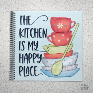 Spiral Bound Recipe Journal Kitchen is my Happy Place Cute Cover