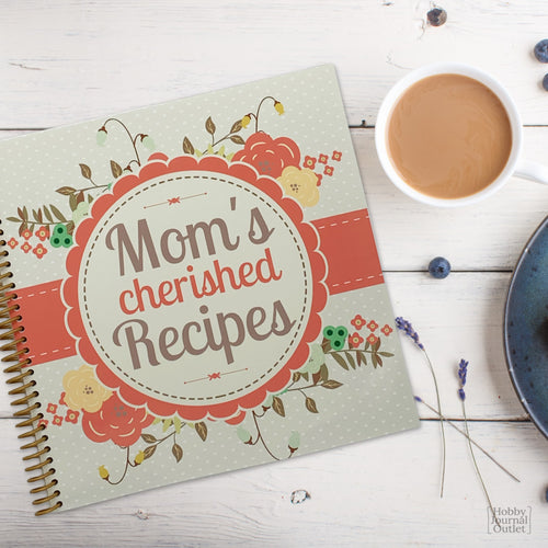 Moms Cherished Recipes Spiral Bound Journal Made in USA
