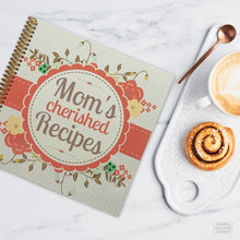 Load image into Gallery viewer, Spiral Bound Gift Recipe Journal for Moms and Mothers to Write in Favorite Dishes