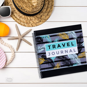 Pretty Travel or Cruise Journal for Women to Write in Daily Adventures and Album Memories