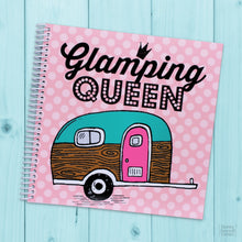 Load image into Gallery viewer, Glamping Queen Pretty Pink Polka Dots Travel Journal for Women to Write in for Retirement RV Camping and National Park Road Trips