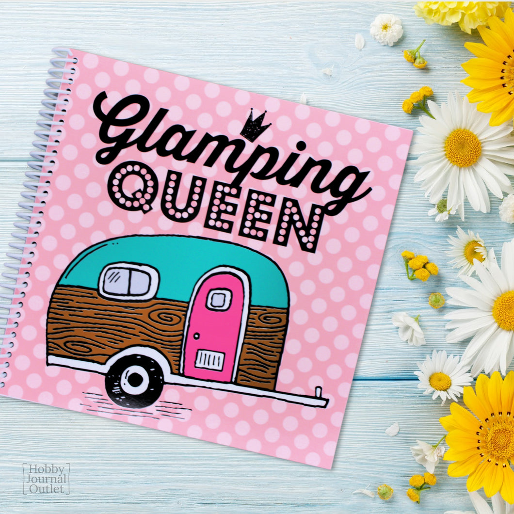 Cute RV and Camping Travel Journal for Women to Write in with Vintage Trailer Glamping Queen