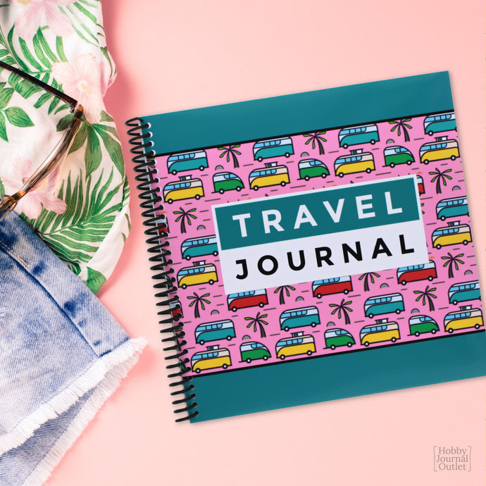 Cute Campervans Travel Journal Spiral Bound Made in the USA VW Vanagon Westfalia