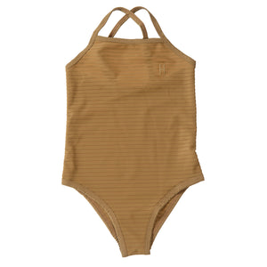 Children's Swimsuit-Antique Bronze