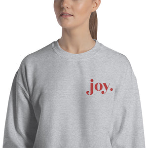 JOY Embroidered Sweatshirt
