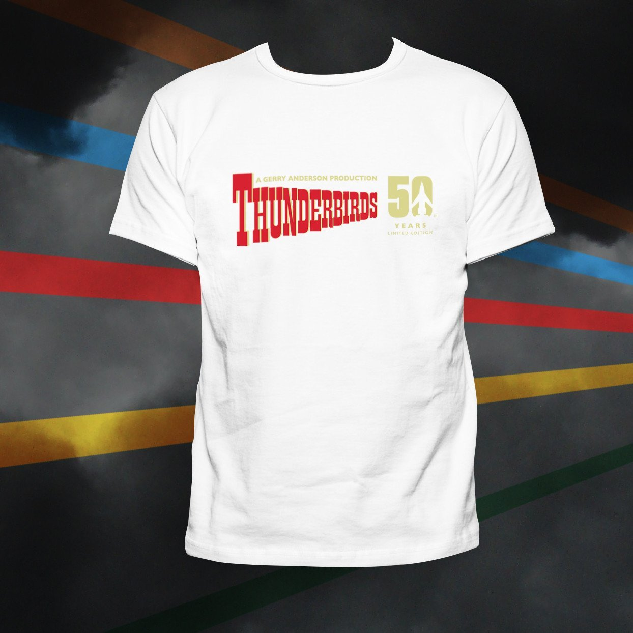 Celebrate in style with the Thunderbirds 50th Anniversary T-Shirt | The Gerry Anderson Store