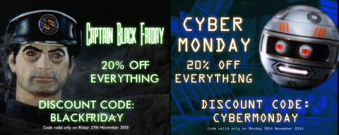 Black Friday and Cyber Monday deals at the official Gerry Anderson store