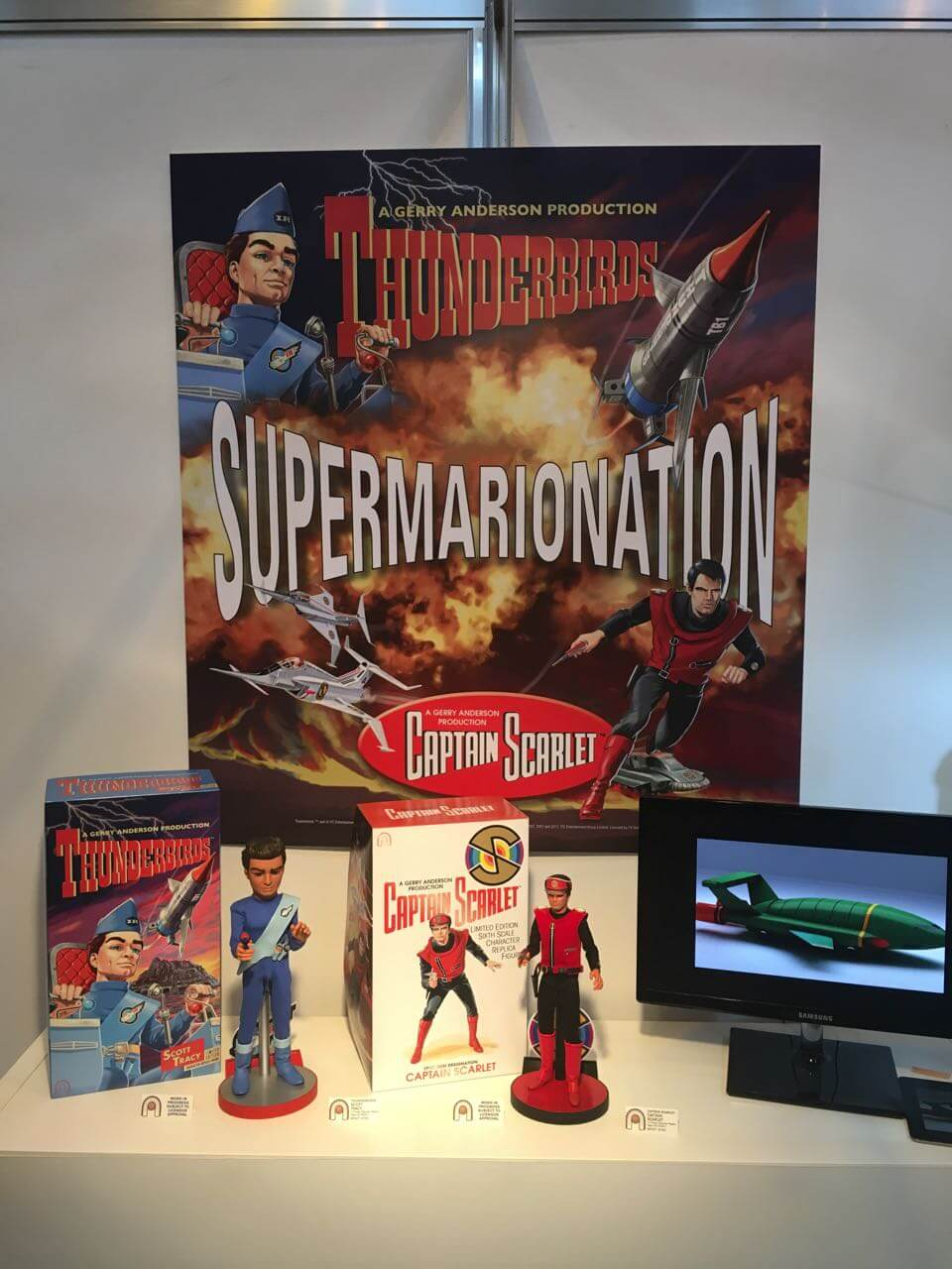 Thunderbirds and Captain Scarlet replica figures from Big Chief Studios
