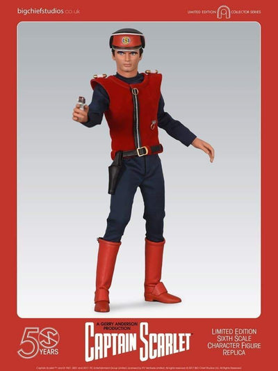 1/6 Scale Captain Scarlet Character Replica Figure from Big Chief Studios - The Gerry Anderson Store