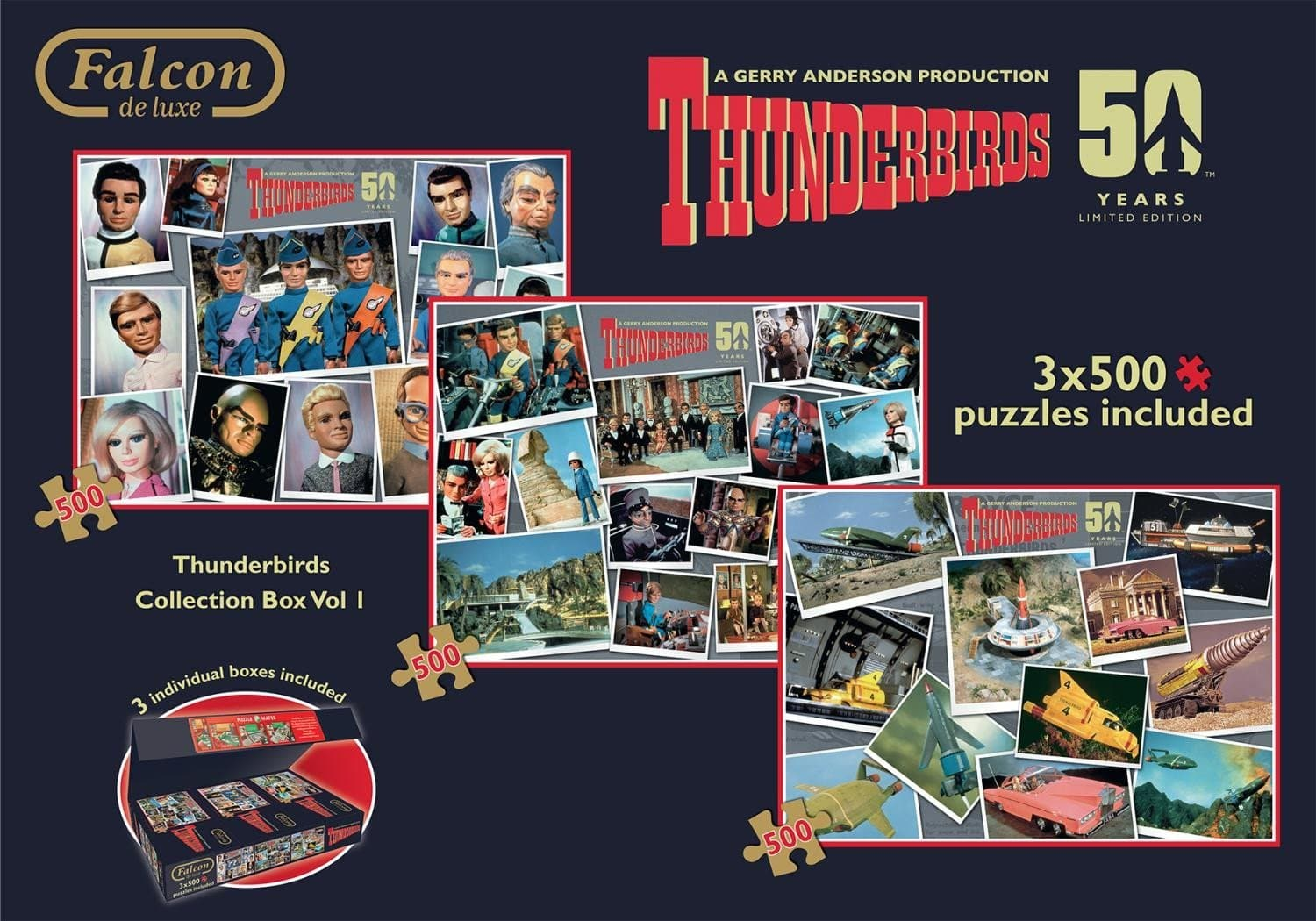 Thunderbirds 3x500pcs Collector's Box Set - Gerry Anderson Official - 6