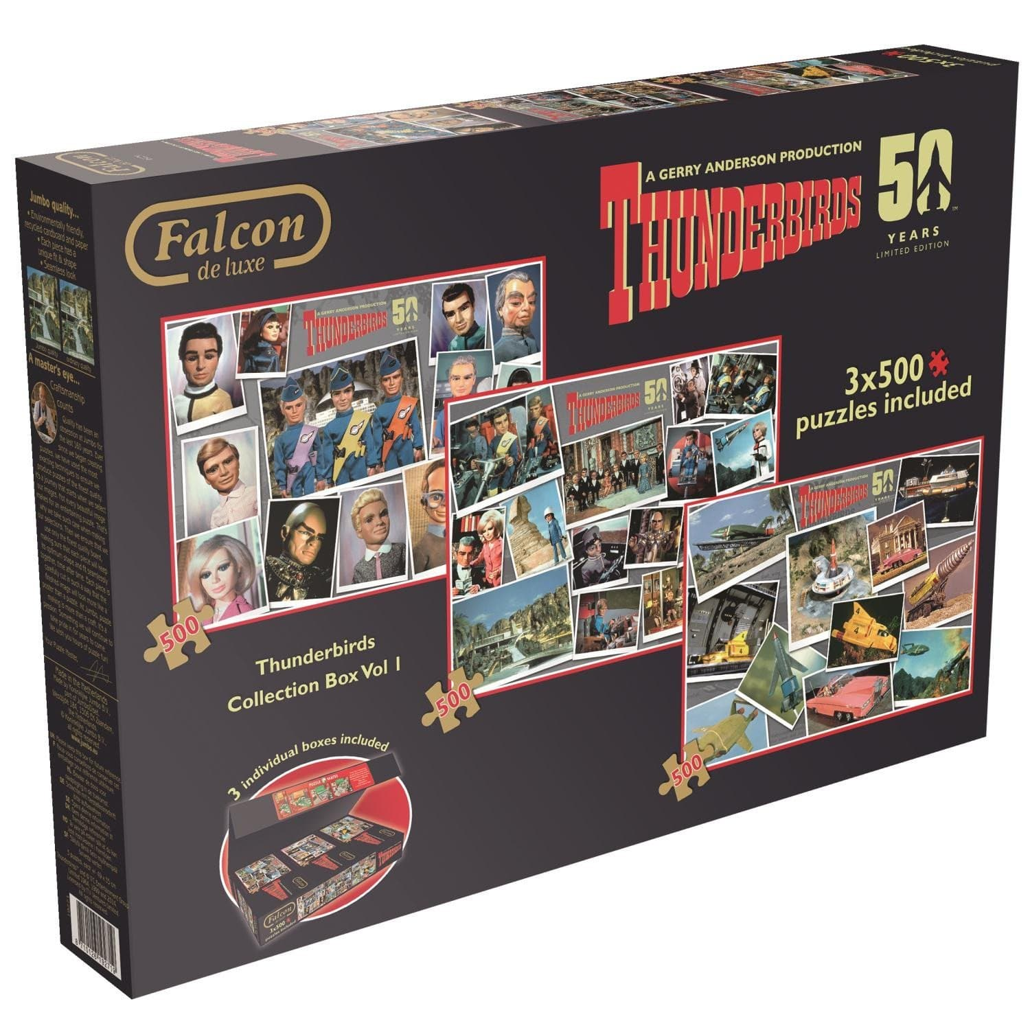 Thunderbirds 3x500pcs Collector's Box Set - Gerry Anderson Official - 1