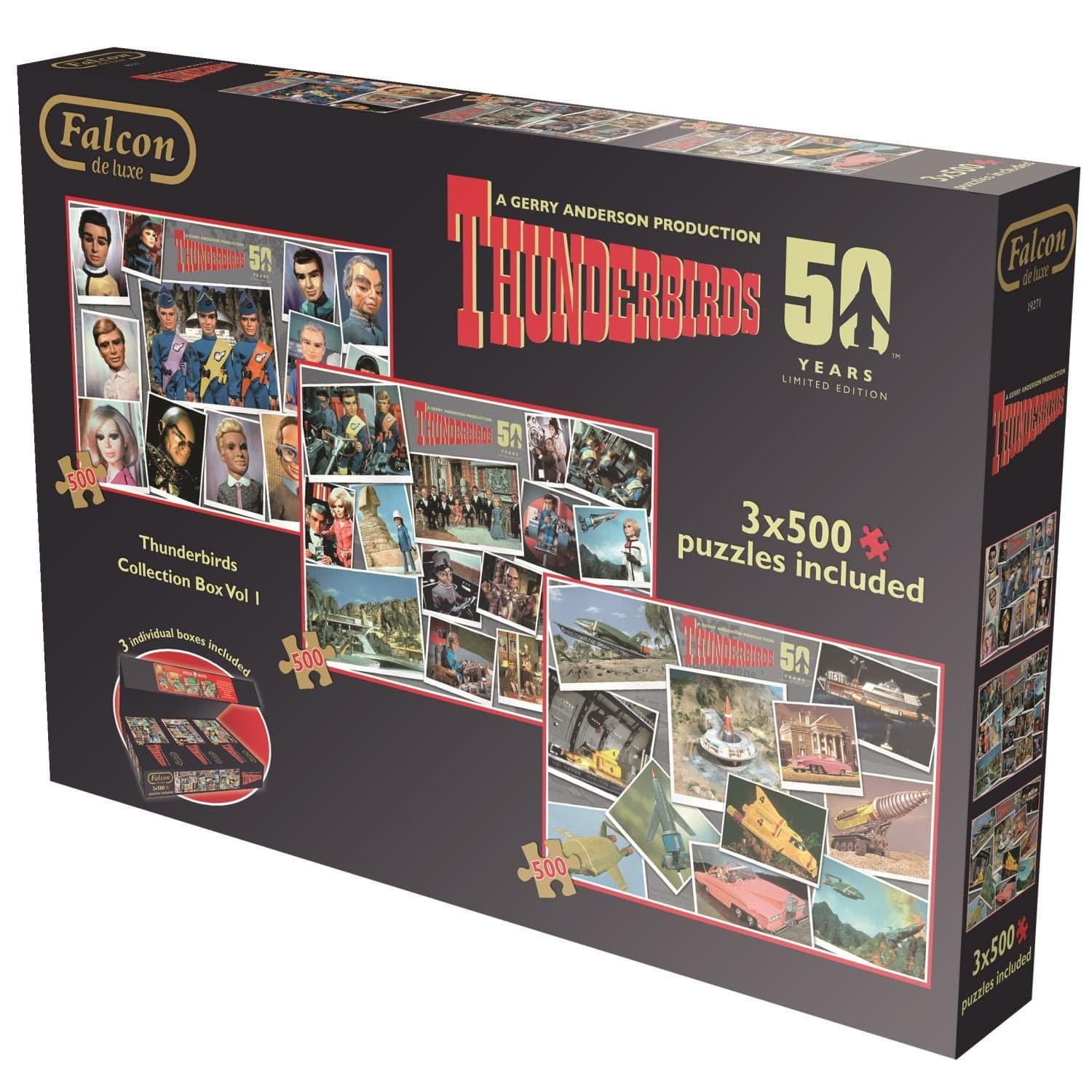 Thunderbirds 3x500pcs Collector's Box Set - Gerry Anderson Official - 7