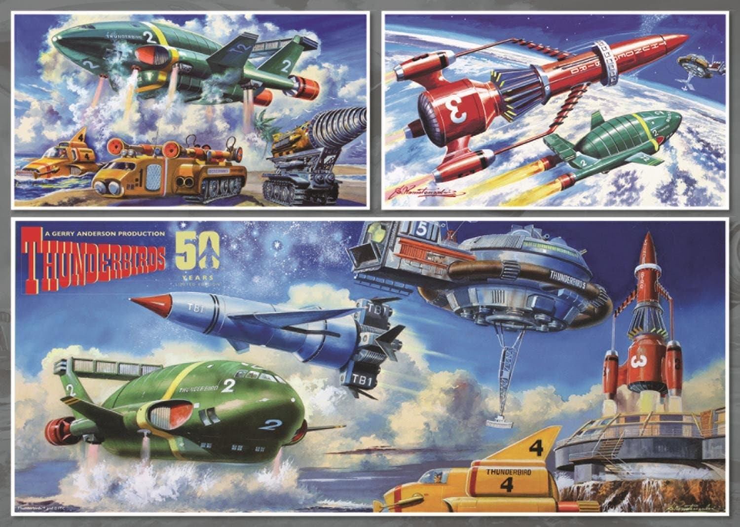 Thunderbirds Iconic Vehicles 1000 piece Jigsaw Puzzle - Gerry Anderson Official - 3