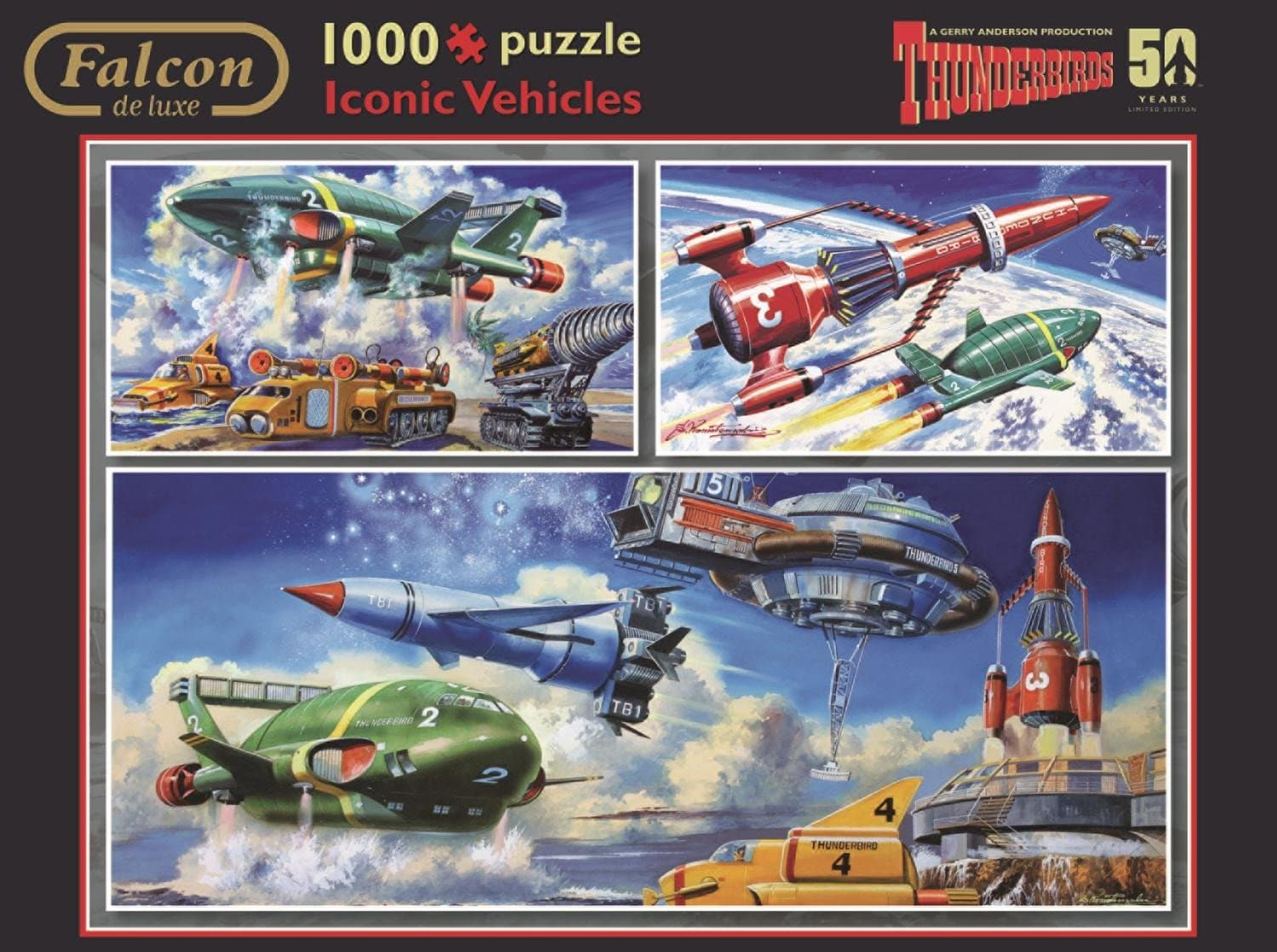 Thunderbirds Iconic Vehicles 1000 piece Jigsaw Puzzle - Gerry Anderson Official - 2