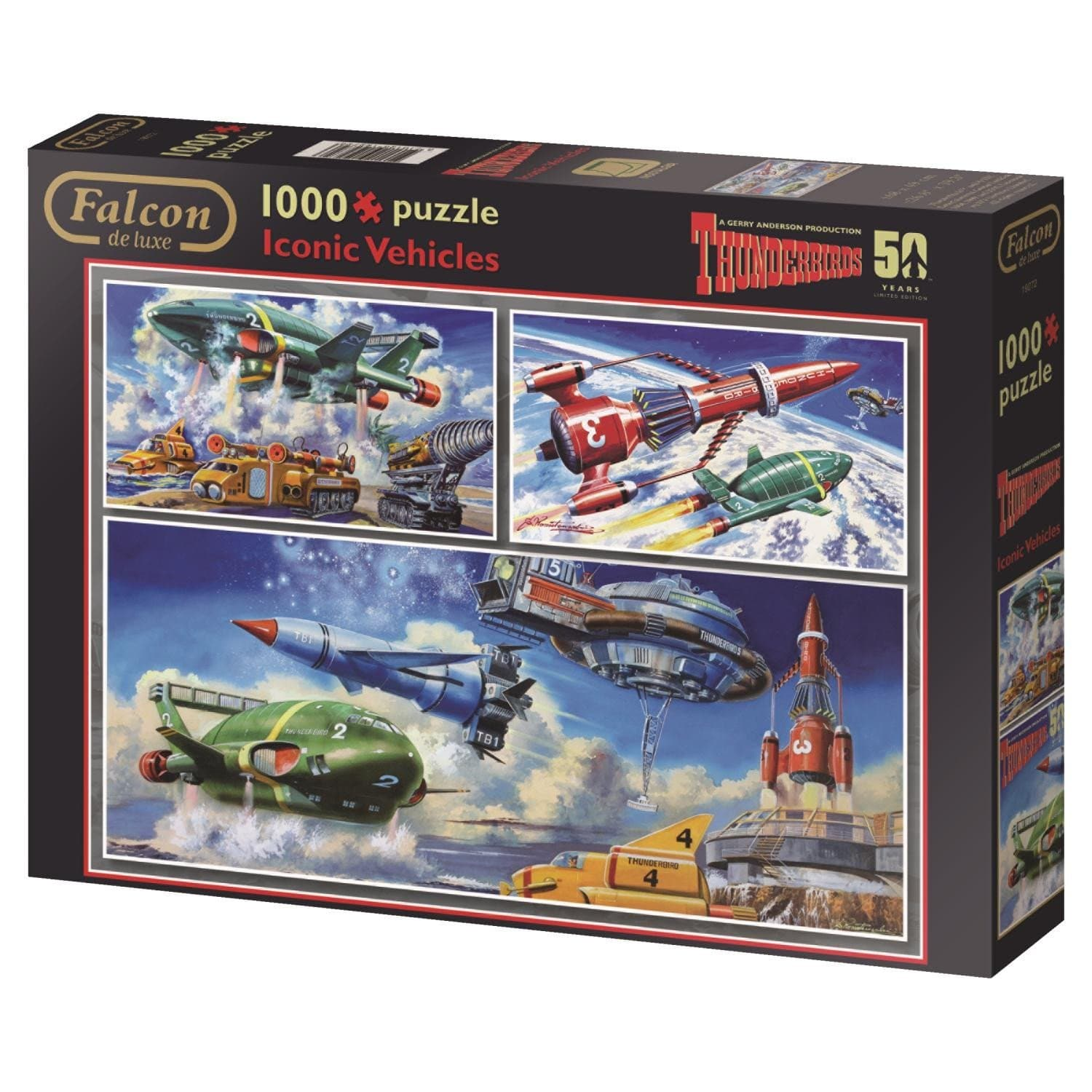 Thunderbirds Iconic Vehicles 1000 piece Jigsaw Puzzle - Gerry Anderson Official - 4