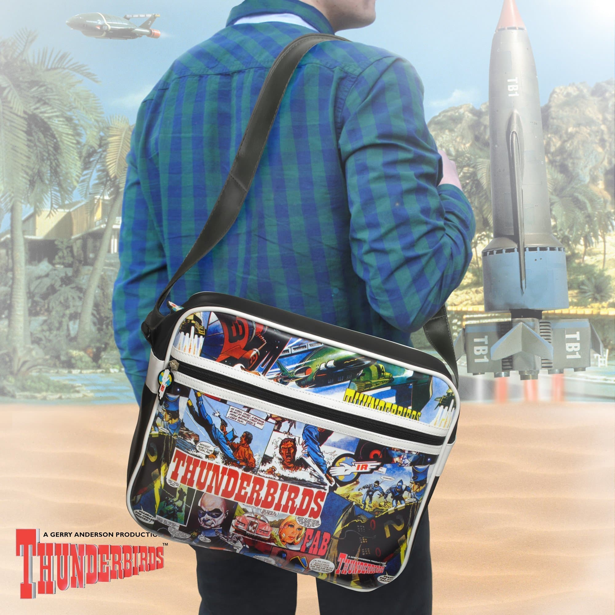 Thunderbirds Comic Strip Messenger Bag - Gerry Anderson Official - 1