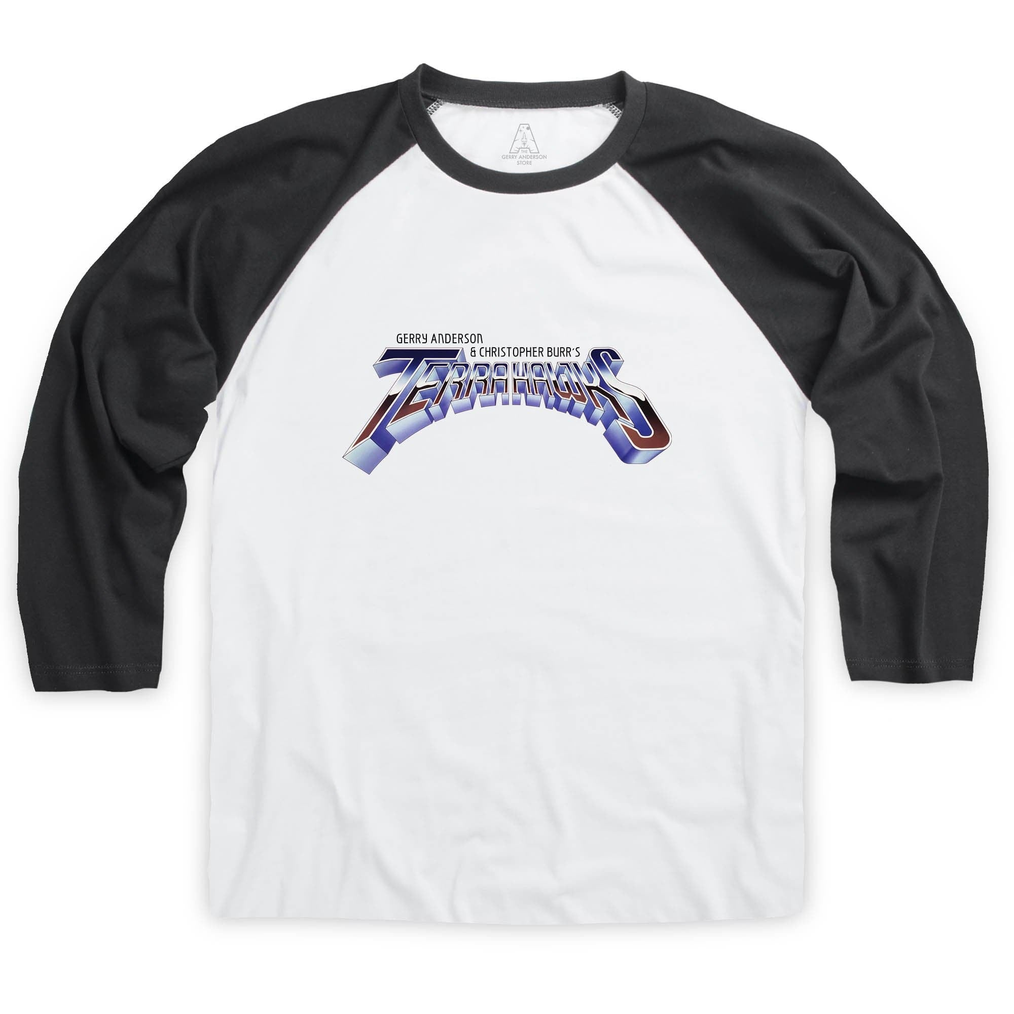 Terrahawks Logo Baseball T-Shirt [Official & Exclusive] - The Gerry Anderson Store