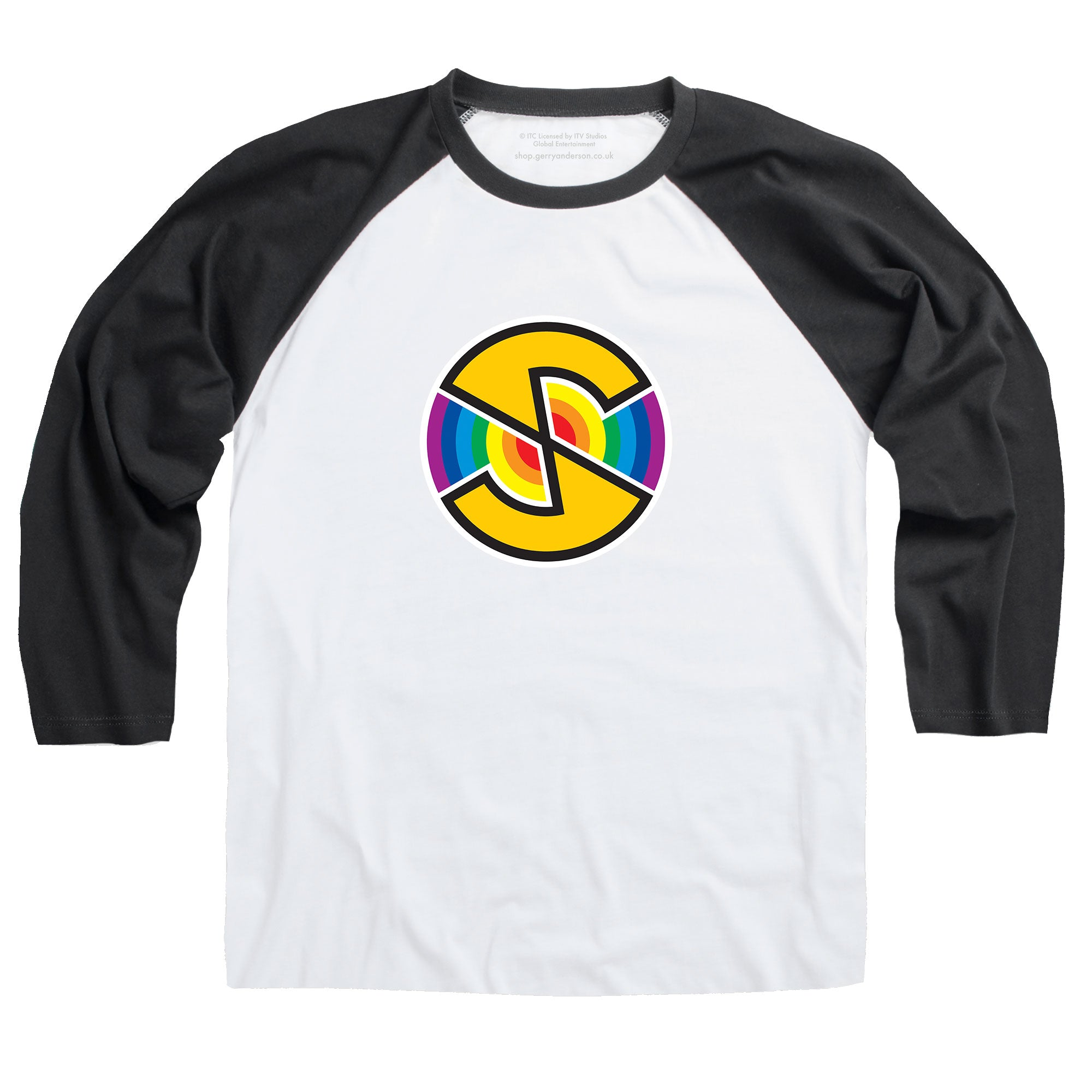 Captain Scarlet Spectrum Logo Baseball T-Shirt [Official & Exclusive] - The Gerry Anderson Store