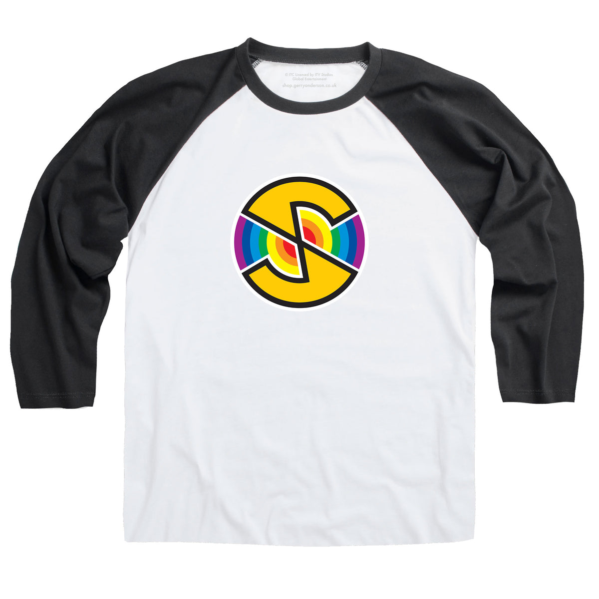 Captain Scarlet Spectrum Logo Baseball T-Shirt [Official & Exclusive]