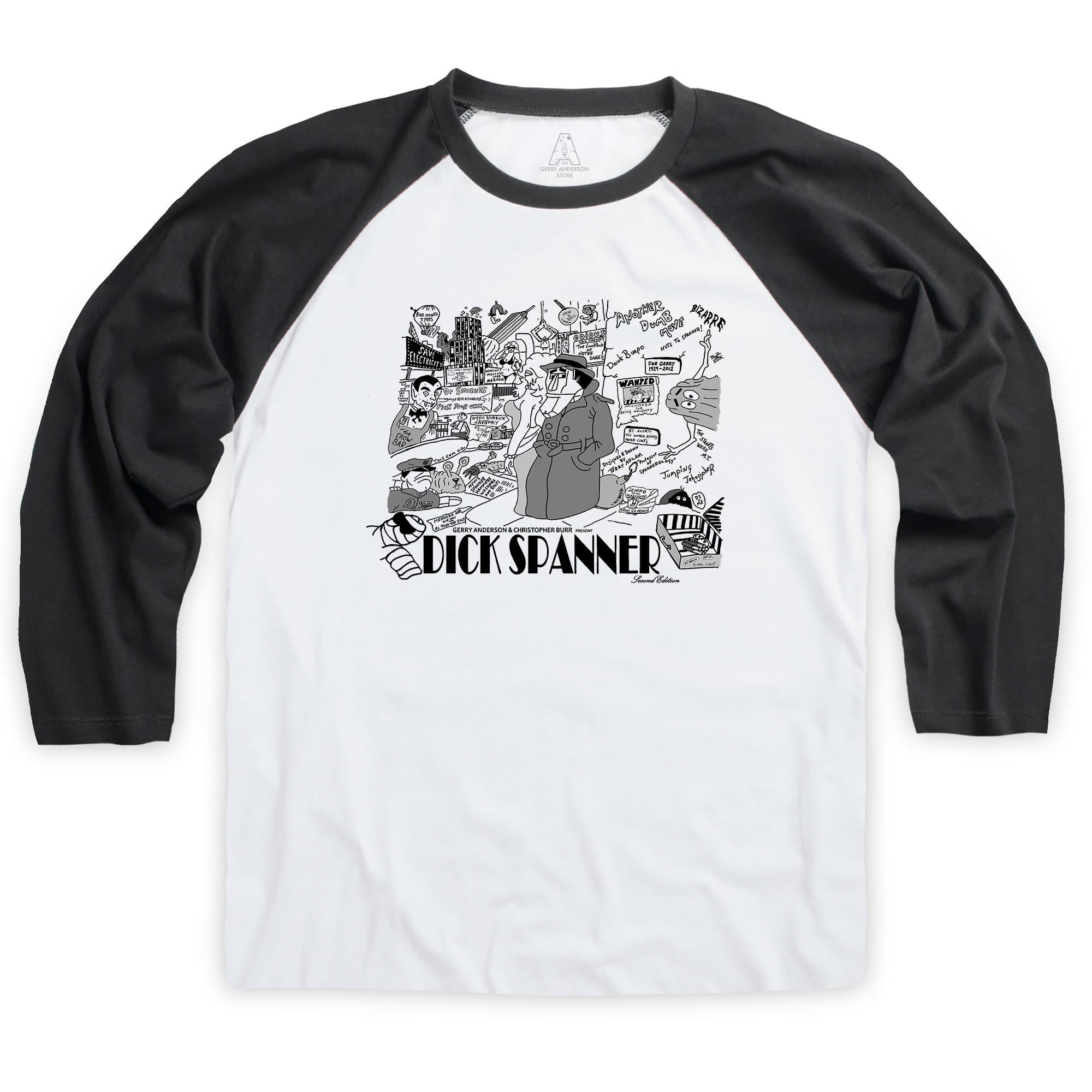 Dick Spanner Comic Strip Baseball T-Shirt [Official & Exclusive] - The Gerry Anderson Store