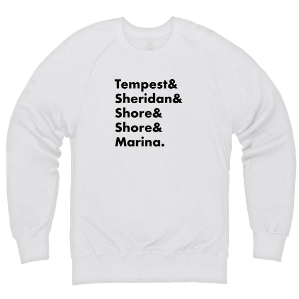Heroes of Marineville Stingray White Sweatshirt [Official & Exclusive] - The Gerry Anderson Store