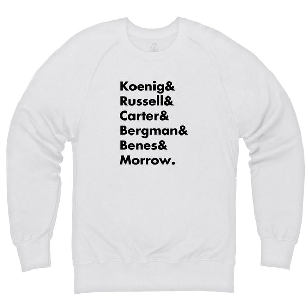 Heroes of Moonbase Alpha White Sweatshirt [Official & Exclusive] - The Gerry Anderson Store