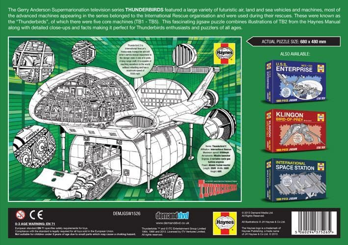 Haynes Thunderbird 2 Jigsaw Puzzle - The Gerry Anderson Store