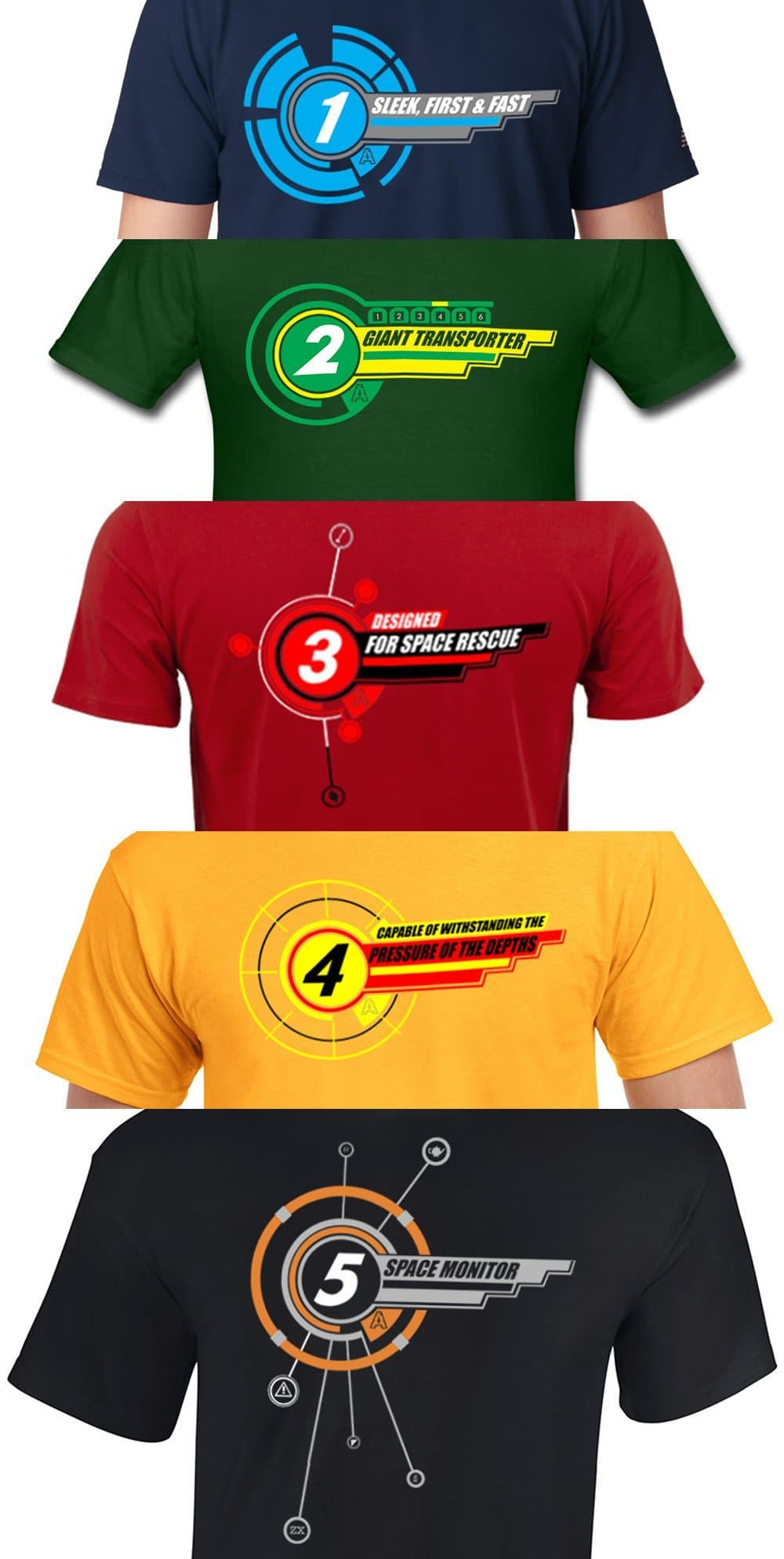 "Gerry Anderson inspired ""1"" t-shirt [1 of 5] - Gerry Anderson Official - 3"