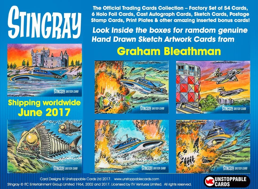 Gerry Anderson Trading Cards Set (LIMITED EDITION EXCLUSIVE PROMO) with bonus cards