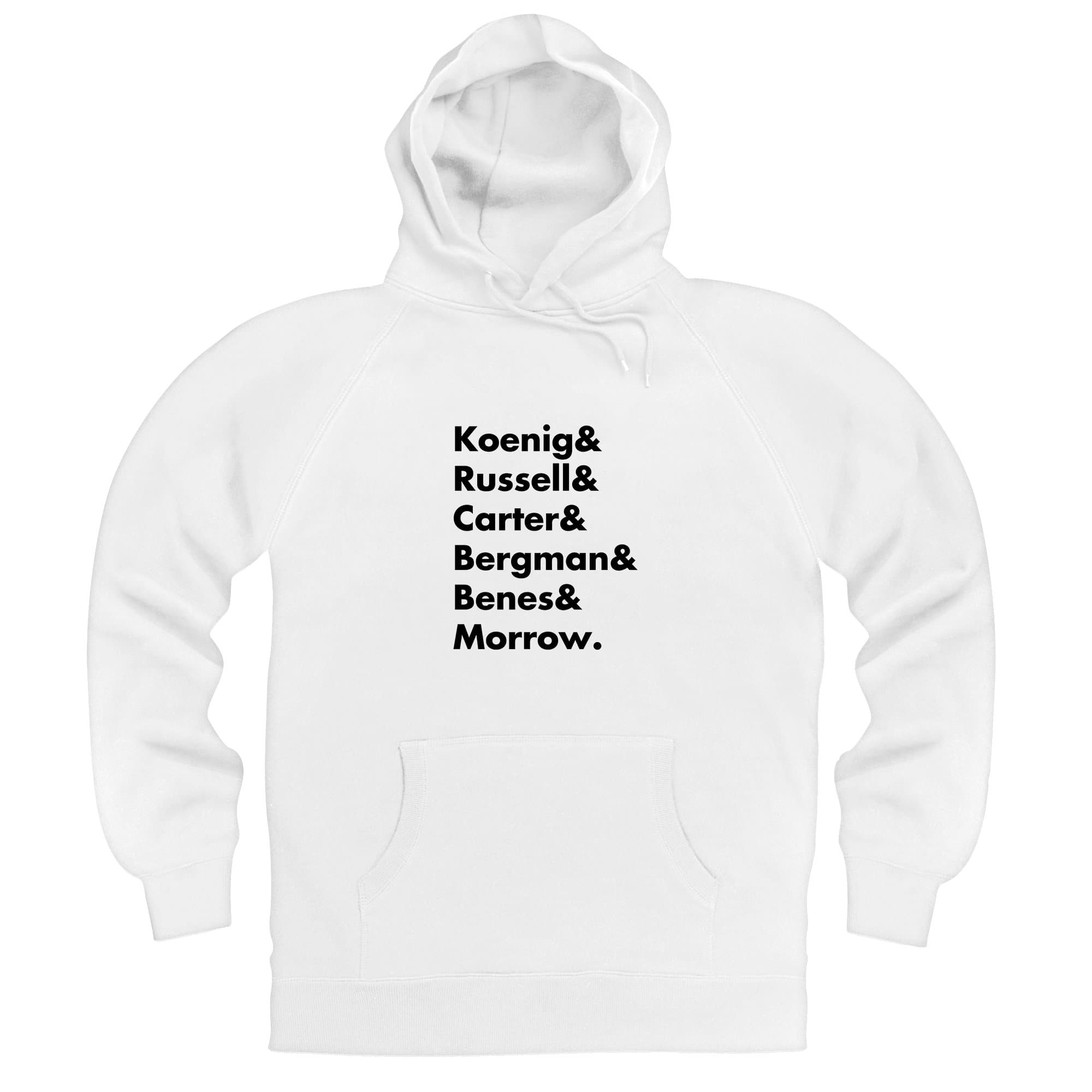 Heroes of Moonbase Alpha White Hoodie [Official & Exclusive] - The Gerry Anderson Store