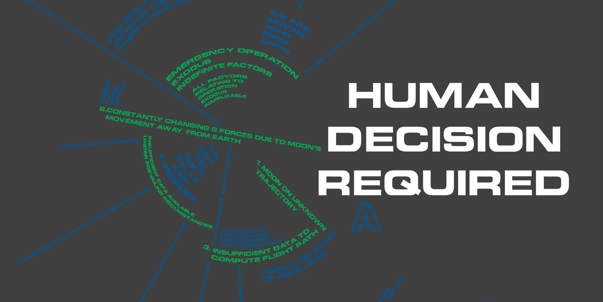 "Space: 1999 inspired ""Human Decision Required"" T-shirt - Gerry Anderson Official - 2"