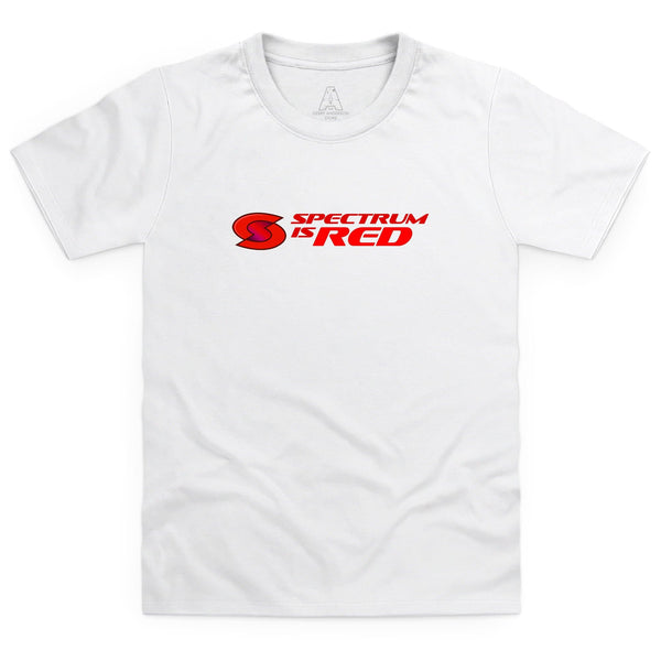 Spectrum Is Red Kid's White T-Shirt [Official & Exclusive] - The Gerry Anderson Store
