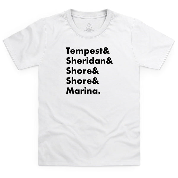 Heroes of Marineville Stingray Kid's White T-Shirt [Official & Exclusive] - The Gerry Anderson Store