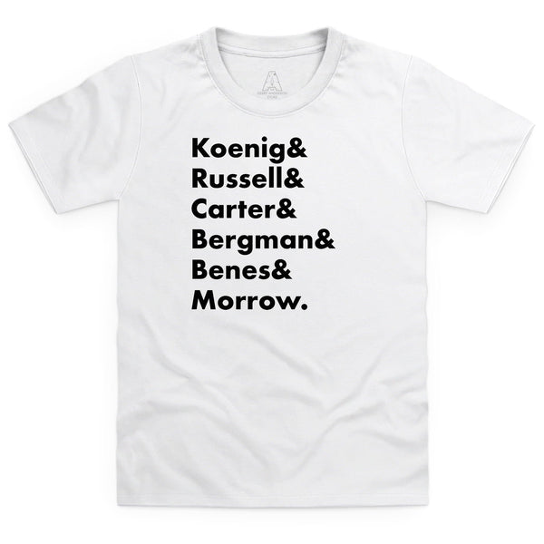 Heroes of Moonbase Alpha Kid's White T-Shirt [Official & Exclusive] - The Gerry Anderson Store