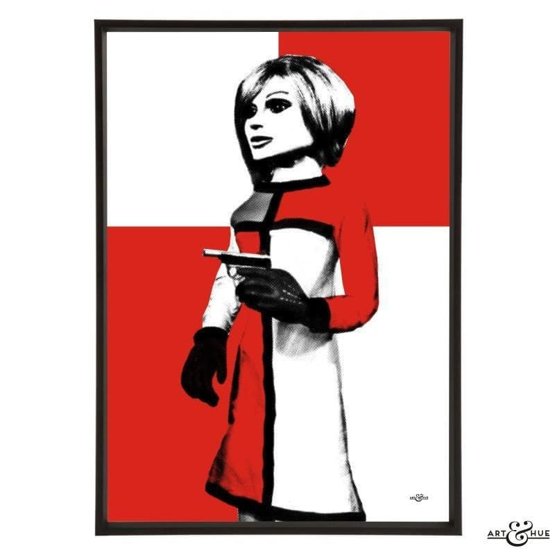 Pop art portrait of London Agent Lady Penelope - Gerry Anderson Official - 2