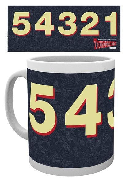 Thunderbirds Mug - 5 4 3 2 1 and Logo - Gerry Anderson Official