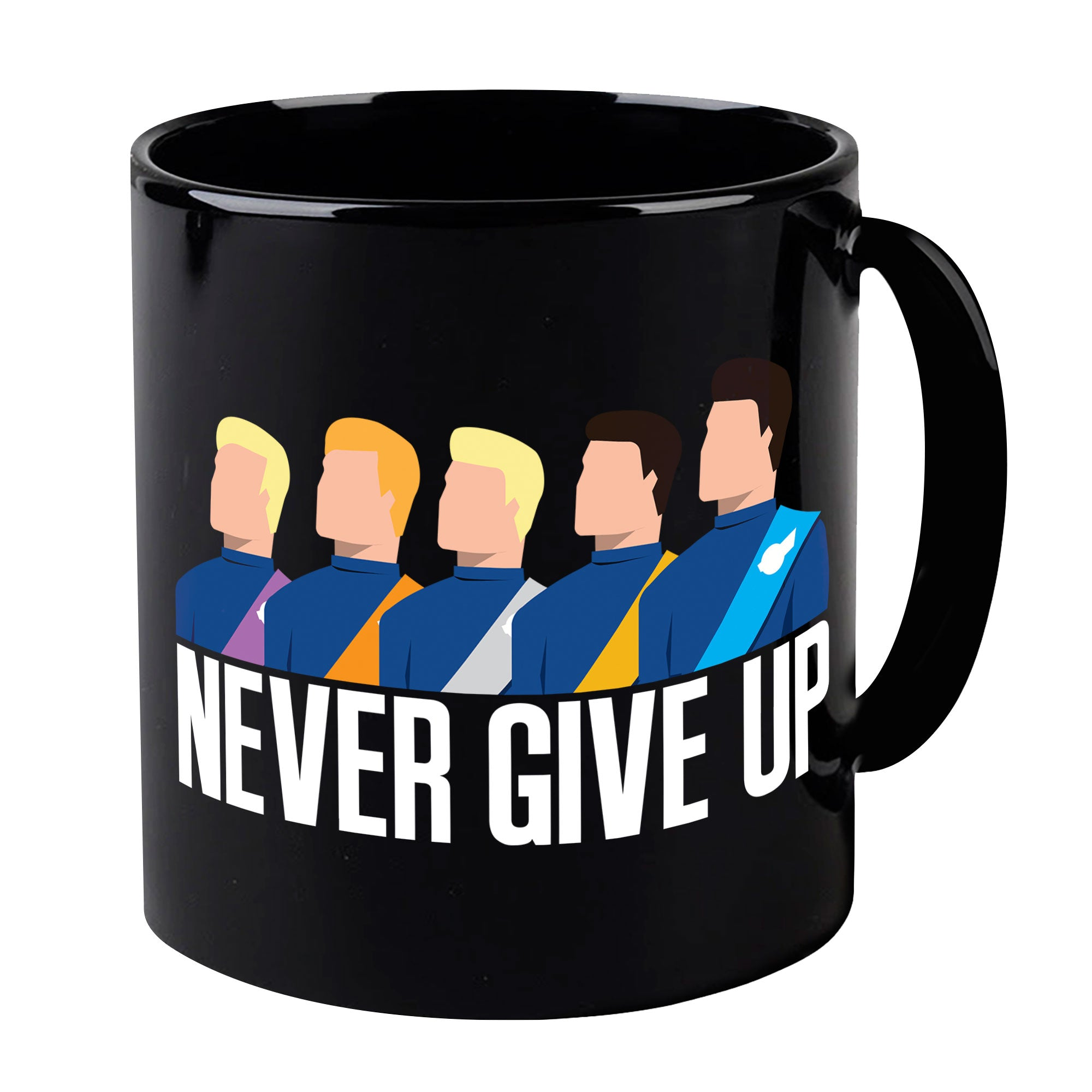Tracy Brothers Group Picture Black Mug - The Gerry Anderson Store