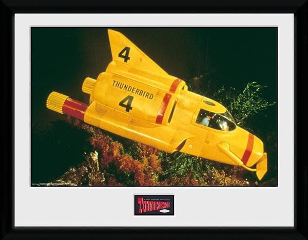 Set of 5 Thunderbirds Vehicle Prints [Framed] - SAVE 20% - The Gerry Anderson Store