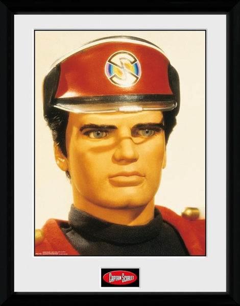 Captain Scarlet - Captain Scarlet Print [Framed] - The Gerry Anderson Store