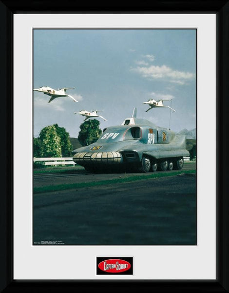 Captain Scarlet - Spectrum Pursuit Vehicle Print [Framed] - The Gerry Anderson Store