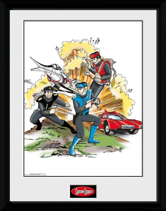 Captain Scarlet - Action Print [Framed] - The Gerry Anderson Store