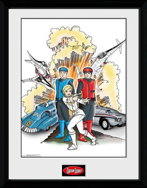 Captain Scarlet - Action Print 2 [Framed] - The Gerry Anderson Store