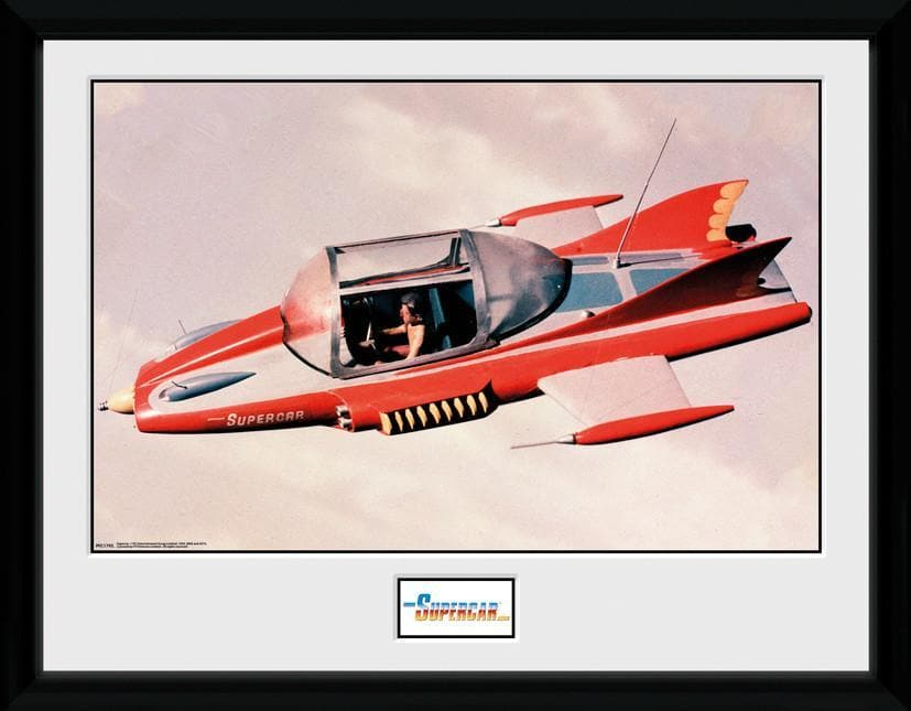 Supercar - Supercar Flying Print [Framed] - The Gerry Anderson Store