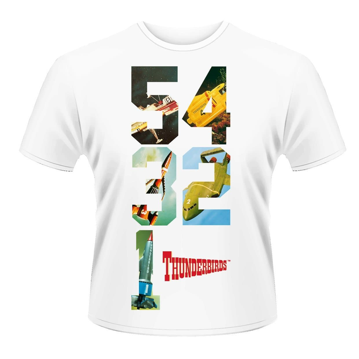 5 4 3 2 1 - Thunderbirds T-shirt - Gerry Anderson Official - 1