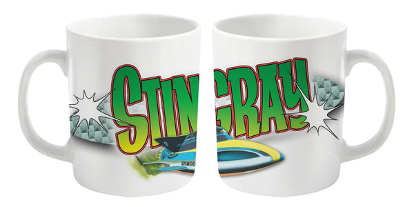 Stingray Mug featuring the Stingray logo and craft - The Gerry Anderson Store
