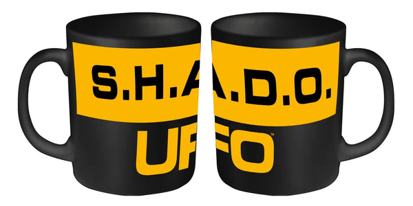 UFO Mug - UFO/SHADO Orange & Black design - Gerry Anderson Official