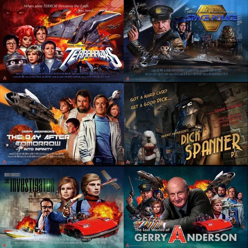 Eric Chu Poster Pack - 6 posters - save 20% - The Gerry Anderson Store