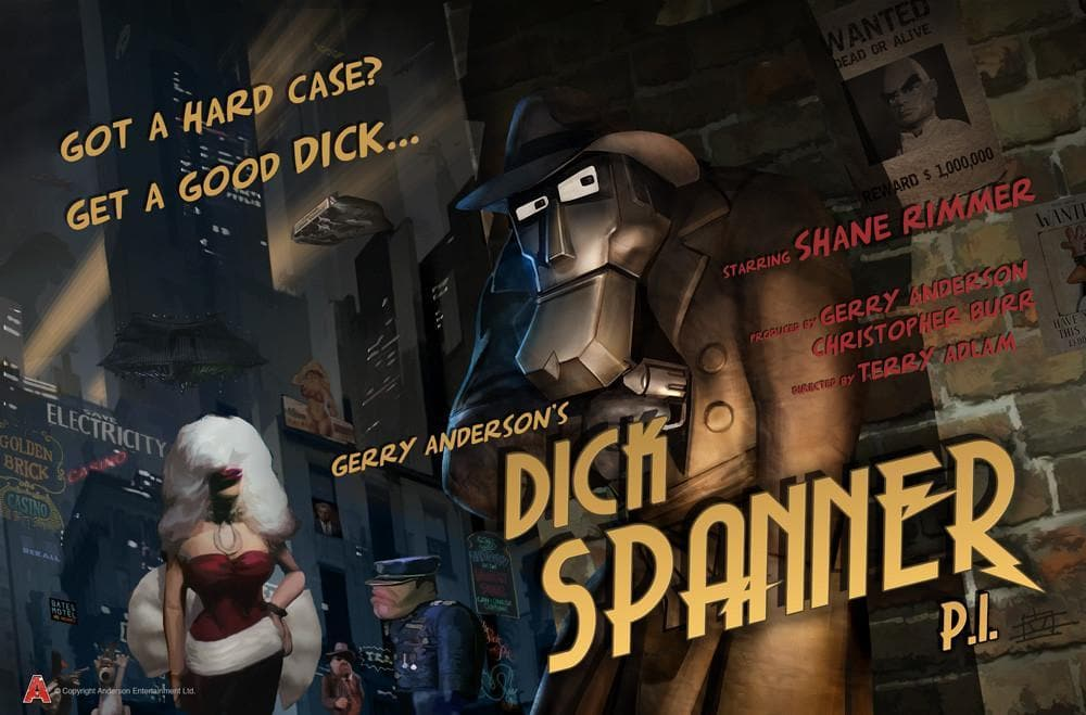 Dick Spanner Poster designed by Eric Chu - Gerry Anderson Official