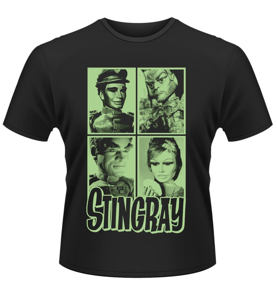 Stingray T-shirt featuring Troy, Titan, Marina, and Commander Shore - The Gerry Anderson Store